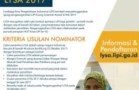 LIPI Young Science Awards 2017